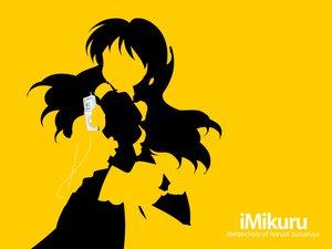 Rating: Safe Score: 12 Tags: asahina_mikuru ipod maid parody silhouette suzumiya_haruhi_no_yuutsu yellow User: Oyashiro-sama