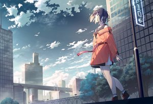 Rating: Safe Score: 57 Tags: building city clouds jpeg_artifacts koh_rd original scenic short_hair sky User: Dreista