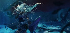 Rating: Safe Score: 105 Tags: animal blue boat bubbles criin_(659503) fish kantai_collection ro-500_(kancolle) u-511_(kancolle) underwater waifu2x water User: mattiasc02