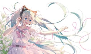 Rating: Safe Score: 41 Tags: animal_ears dress ginklaga hatsune_miku headphones twintails vocaloid User: BattlequeenYume