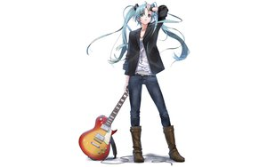 Rating: Safe Score: 76 Tags: boots guitar hatsune_miku instrument nagareboshi twintails vocaloid white User: anaraquelk2