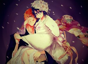 Rating: Safe Score: 37 Tags: bleach kuchiki_rukia kurosaki_ichigo male tagme tagme_(artist) User: RyuZU