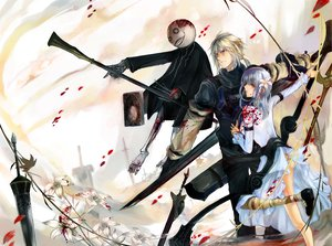 Rating: Safe Score: 35 Tags: blonde_hair blue_eyes book dress emil flowers gray_hair kaine long_hair nier nier_(character) ponytail short_hair sword weapon User: Tensa