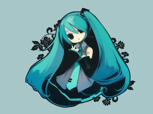 Rating: Safe Score: 53 Tags: gray hatsune_miku puti_devil vocaloid User: atlantiza