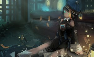 Rating: Safe Score: 128 Tags: aqua_eyes boots braids dark hat kikivi ofuda original User: Flandre93