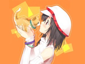 Rating: Safe Score: 39 Tags: animal cat hat kantoku orange User: Zero
