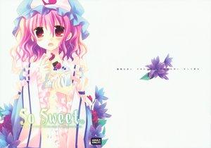 Rating: Safe Score: 26 Tags: blush cake flowers food hat japanese_clothes kimono pink_hair red_eyes saigyouji_yuyuko sakurazawa_izumi scan short_hair touhou User: Tensa