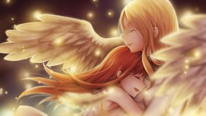 Rating: Safe Score: 120 Tags: 2girls blonde_hair clare claymore hug leikangmin long_hair red_hair tears teresa wings User: Flandre93