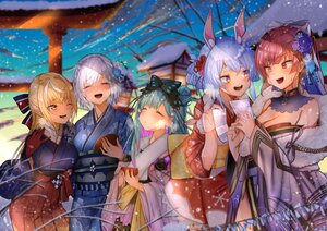 Rating: Safe Score: 38 Tags: animal_ears bicolored_eyes blonde_hair blush bow bunnygirl clouds dark_skin flowers gloves green_hair group hololive houshou_marine japanese_clothes kimono long_hair miyasaka_ori pointed_ears red_hair shiranui_flare shirogane_noel short_hair signed snow torii uruha_rushia usada_pekora white_hair yellow_eyes User: Maboroshi