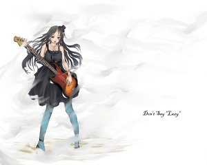 Rating: Safe Score: 5 Tags: akiyama_mio guitar instrument k-on! white User: HawthorneKitty