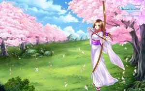 Rating: Safe Score: 17 Tags: bow bow_(weapon) cherry_blossoms flowers japanese_clothes weapon wonderland_online User: 秀悟