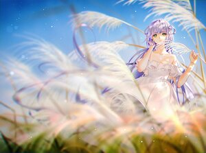 Rating: Safe Score: 58 Tags: dress grass green_eyes long_hair luo_tianyi purple_hair sky summer_dress tidsean twintails vocaloid vsinger User: BattlequeenYume
