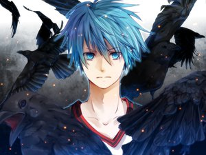 Rating: Safe Score: 64 Tags: animal bird blue_eyes blue_hair close kuroko_no_basket kuroko_tetsuya mochitachio short_hair User: Maboroshi