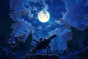 Rating: Safe Score: 45 Tags: clouds mocha_(cotton) moon night original ruins scenic signed sky stars User: FormX