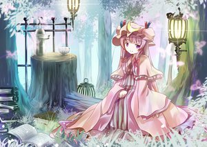 Rating: Safe Score: 47 Tags: blush dress hat long_hair patchouli_knowledge purple_eyes purple_hair touhou User: SciFi