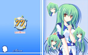 Rating: Safe Score: 42 Tags: 77 green_hair long_hair mikagami_mamizu school_uniform stella_(77) yellow_eyes User: oranganeh