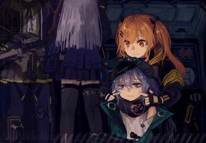 Rating: Safe Score: 48 Tags: akai-fumihito anthropomorphism cat_smile g11_(girls_frontline) girls_frontline gloves gray_eyes gray_hair group gun hat hk416_(girls_frontline) long_hair orange_eyes orange_hair pantyhose scar scarf seifuku skirt thighhighs twintails ump-45_(girls_frontline) ump-9_(girls_frontline) weapon white_hair User: otaku_emmy