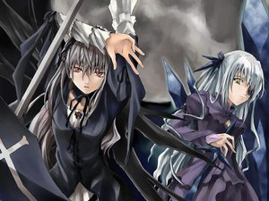 Rating: Safe Score: 13 Tags: barasuishou eyepatch gothic rozen_maiden suigintou User: 秀悟
