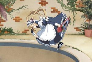 Rating: Safe Score: 20 Tags: apron blonde_hair cropped dress headdress long_hair maid original pool sport suzushiro_(suzushiro333) twintails User: otaku_emmy