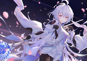 Rating: Safe Score: 98 Tags: dress fate/grand_order fate_(series) kyaroru merlin_(fate/prototype) staff User: BattlequeenYume