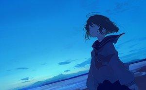 Rating: Safe Score: 58 Tags: blue mifuru original scenic school_uniform sky User: FormX