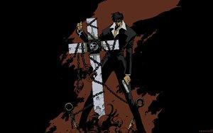 Rating: Safe Score: 20 Tags: cross gun nicholas_d_wolfwood sunglasses trigun weapon User: Brynhild
