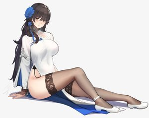 Rating: Safe Score: 111 Tags: anthropomorphism black_hair breasts chinese_clothes chinese_dress cropped garter_belt girls_frontline hayabusa long_hair qbz-95_(girls_frontline) stockings thighhighs yellow_eyes User: BattlequeenYume