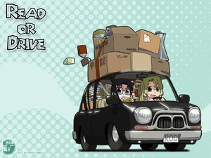 Rating: Safe Score: 23 Tags: car chibi michelle_cheung read_or_die yomiko_readman User: Oyashiro-sama
