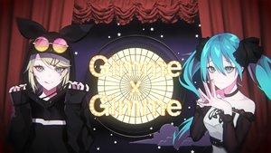 Rating: Safe Score: 40 Tags: 2girls hatsune_miku hoodie kagamine_rin ram_(ramlabo) sunglasses vocaloid User: FormX