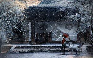 Rating: Safe Score: 191 Tags: absol animal building hat hibiki hoodie pokemon rounin_(amuza) scenic shrine signed snow stairs tree umbrella winter User: Flandre93