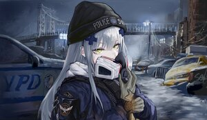 Rating: Safe Score: 52 Tags: anthropomorphism building city girls_frontline gloves gray_hair green_eyes hat hk416_(girls_frontline) long_hair mask sawkm1 snow tom_clancy's_the_division User: Nepcoheart