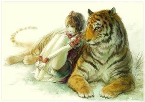 Rating: Safe Score: 163 Tags: aa_kuro animal barefoot brown_hair crown green_eyes romance_of_the_three_kingdoms short_hair sonshoukou tiger User: FormX