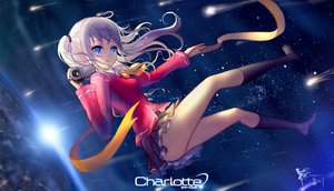 Rating: Safe Score: 153 Tags: blue_eyes camera charlotte hc jpeg_artifacts kneehighs logo long_hair skirt space stars tomori_nao twintails User: Flandre93