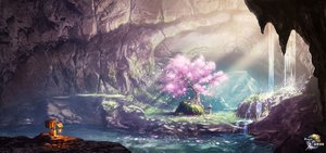 Rating: Safe Score: 45 Tags: cherry_blossoms flowers grass original petals rapt_(47256) robot scenic tree water waterfall watermark User: mattiasc02