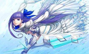 Rating: Safe Score: 28 Tags: boots fate/grand_order fate_(series) long_hair meltryllis nopan purple_eyes purple_hair shigumo_(shigeru) water User: RyuZU