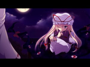 Rating: Safe Score: 24 Tags: blonde_hair kazakura long_hair moon night sky touhou yakumo_yukari User: Tensa