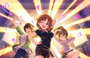 Rating: Safe Score: 62 Tags: annin_doufu blush breasts brown_eyes brown_hair hori_yuuko idolmaster idolmaster_cinderella_girls idolmaster_cinderella_girls_starlight_stage katagiri_sanae necklace oikawa_shizuku ponytail short_hair skirt twintails wink User: RyuZU