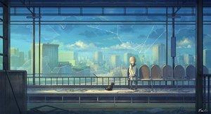 Rating: Safe Score: 74 Tags: animal blonde_hair cat city clouds feel_(nasitaki) kneehighs original seifuku short_hair signed sky train User: mattiasc02
