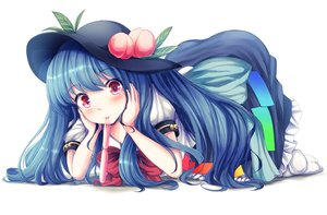 Rating: Safe Score: 39 Tags: blue_hair hat hinanawi_tenshi red_eyes t.m_(aqua6233) touhou white User: C4R10Z123GT
