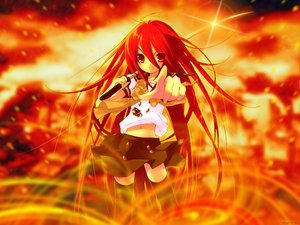 Rating: Safe Score: 14 Tags: school_uniform shakugan_no_shana shana skirt sword thighhighs weapon User: Oyashiro-sama