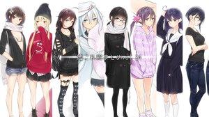 Rating: Safe Score: 95 Tags: akebono_(kancolle) ama_mitsuki anthropomorphism aqua_eyes bikini_top black_hair blonde_hair bow braids brown_eyes brown_hair collar fubuki_(kancolle) glasses group hat hibiki_(kancolle) hoodie i-13_(kancolle) kantai_collection long_hair satsuki_(kancolle) school_uniform sendai_(kancolle) shigure_(kancolle) short_hair skirt thighhighs twintails ushio_(kancolle) verniy_(kancolle) yellow_eyes User: RyuZU