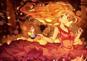Rating: Safe Score: 127 Tags: adventure_time dress fire flame_princess long_hair mo_huai_mao orange_eyes orange_hair pointed_ears User: luckyluna