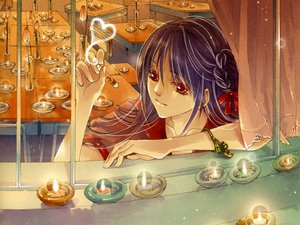 Rating: Safe Score: 21 Tags: purple_hair red_eyes User: Maboroshi