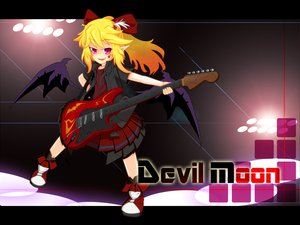 Rating: Safe Score: 19 Tags: blonde_hair elis guitar instrument long_hair ponytail red_eyes ribbons skirt touhou wings User: Tensa