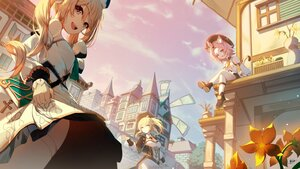 Rating: Safe Score: 49 Tags: animal_ears barbara_(genshin_impact) blonde_hair building catgirl cat_smile city clouds diona_(genshin_impact) flowers genshin_impact jean_gunnhildr long_hair magica ponytail signed sky tail twintails windmill User: BattlequeenYume