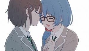 Rating: Safe Score: 25 Tags: 2girls asahi_rokka bang_dream! blue_hair blush brown_hair close ponytail school_uniform shiba_murashouji short_hair shoujo_ai tie toyama_asuka white User: otaku_emmy