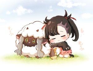 Rating: Safe Score: 39 Tags: animal black_eyes blush chibi honyang mary_(pokemon) morpeko pokemon sheep short_hair wooloo User: RyuZU