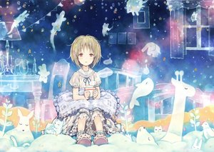 Rating: Safe Score: 26 Tags: blonde_hair drink loli lolita_fashion red_eyes scan short_hair takano_otohiko User: RyuZU