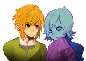 Rating: Safe Score: 6 Tags: aqua_eyes blue_hair fi_(zelda) link_(zelda) male onisuu orange_hair pointed_ears short_hair sketch the_legend_of_zelda white User: otaku_emmy