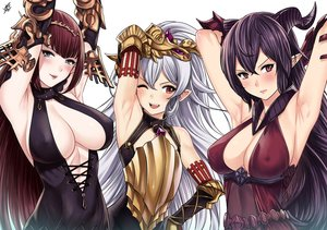 Rating: Safe Score: 20 Tags: blush breasts cleavage granblue_fantasy horns wink xtermination User: FormX
